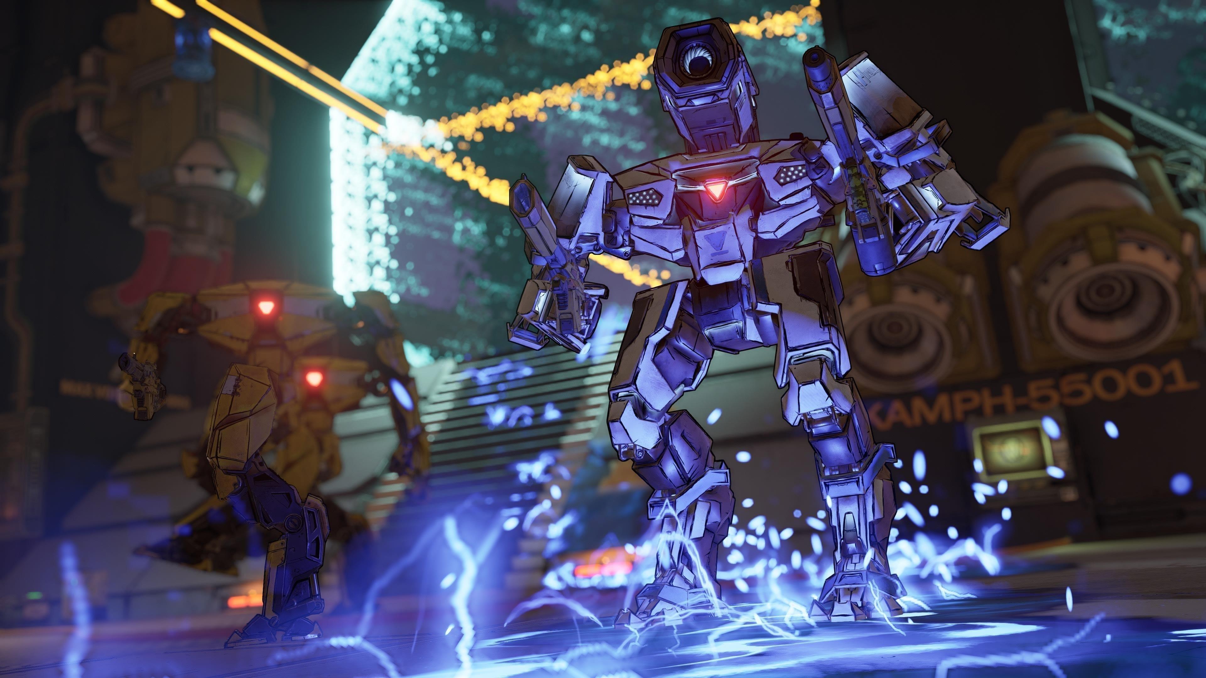 Borderlands 3 робот стреляет обои скачать