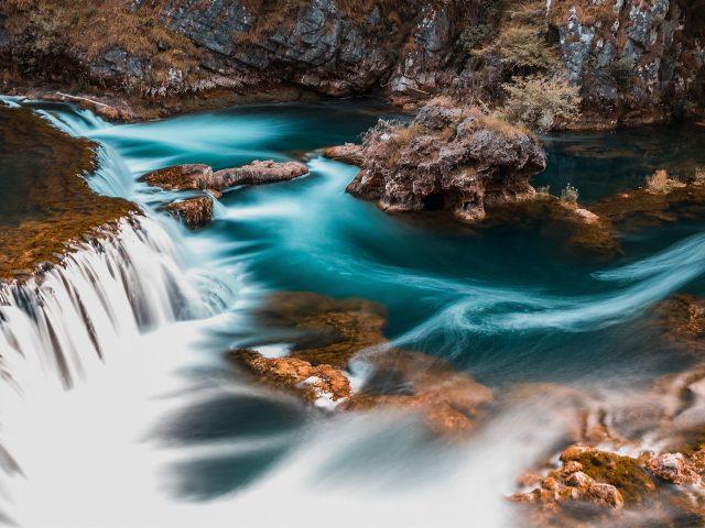 Длительная экспозиция водопад пейзаж