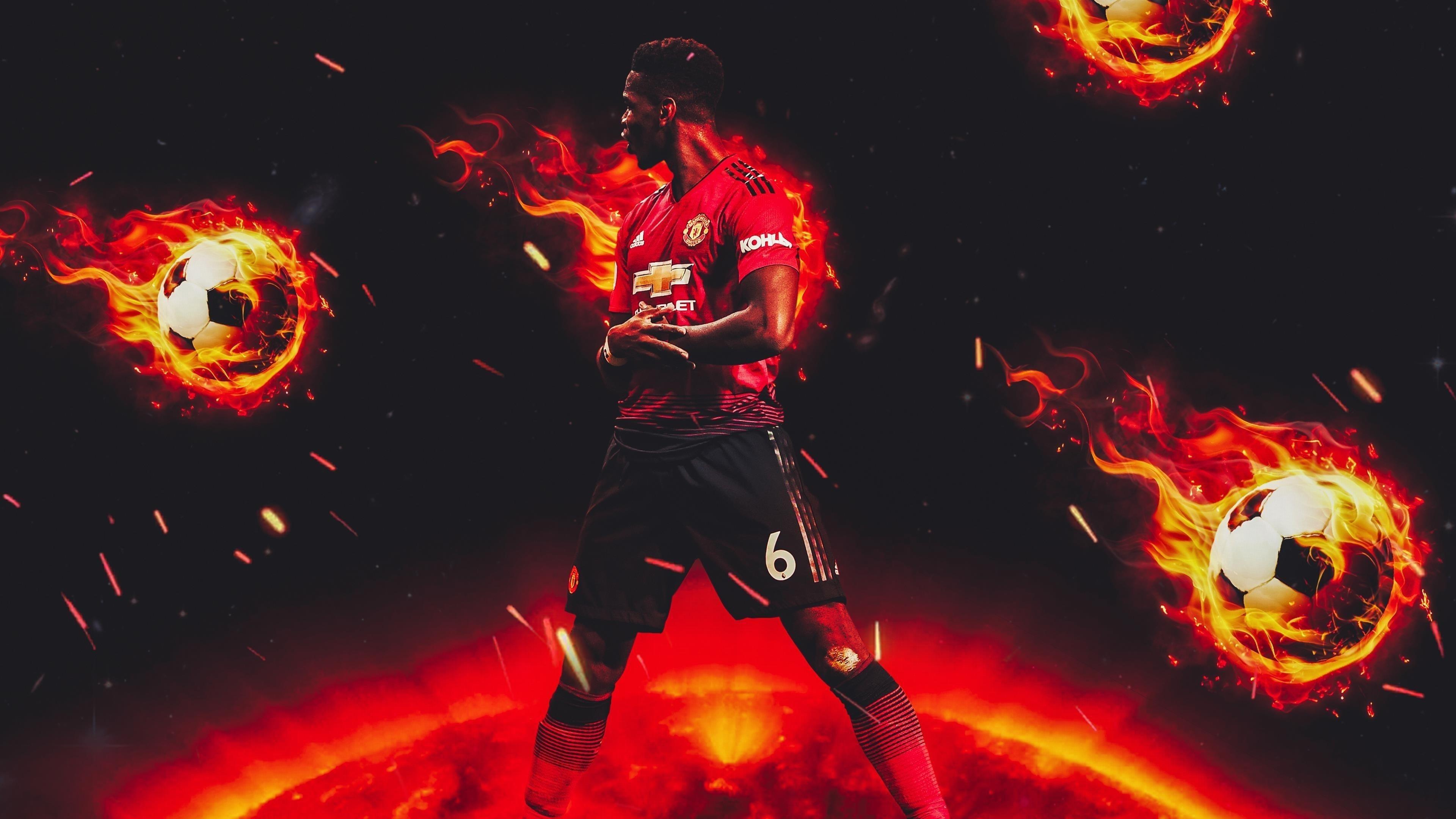 Поль Погба Манчестер Юнайтед французский футболист обои скачать