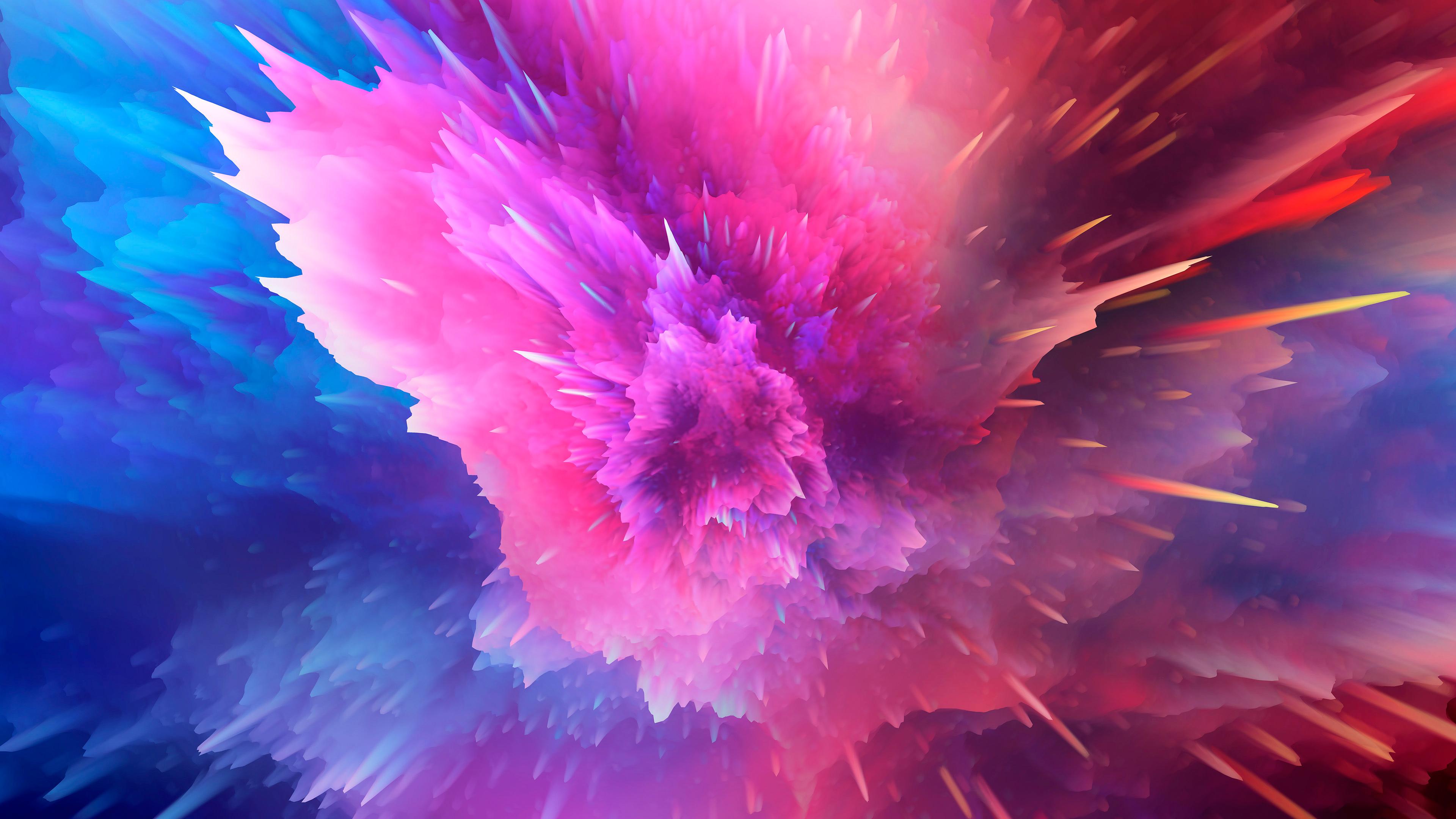 Красочный всплеск краски обои скачать