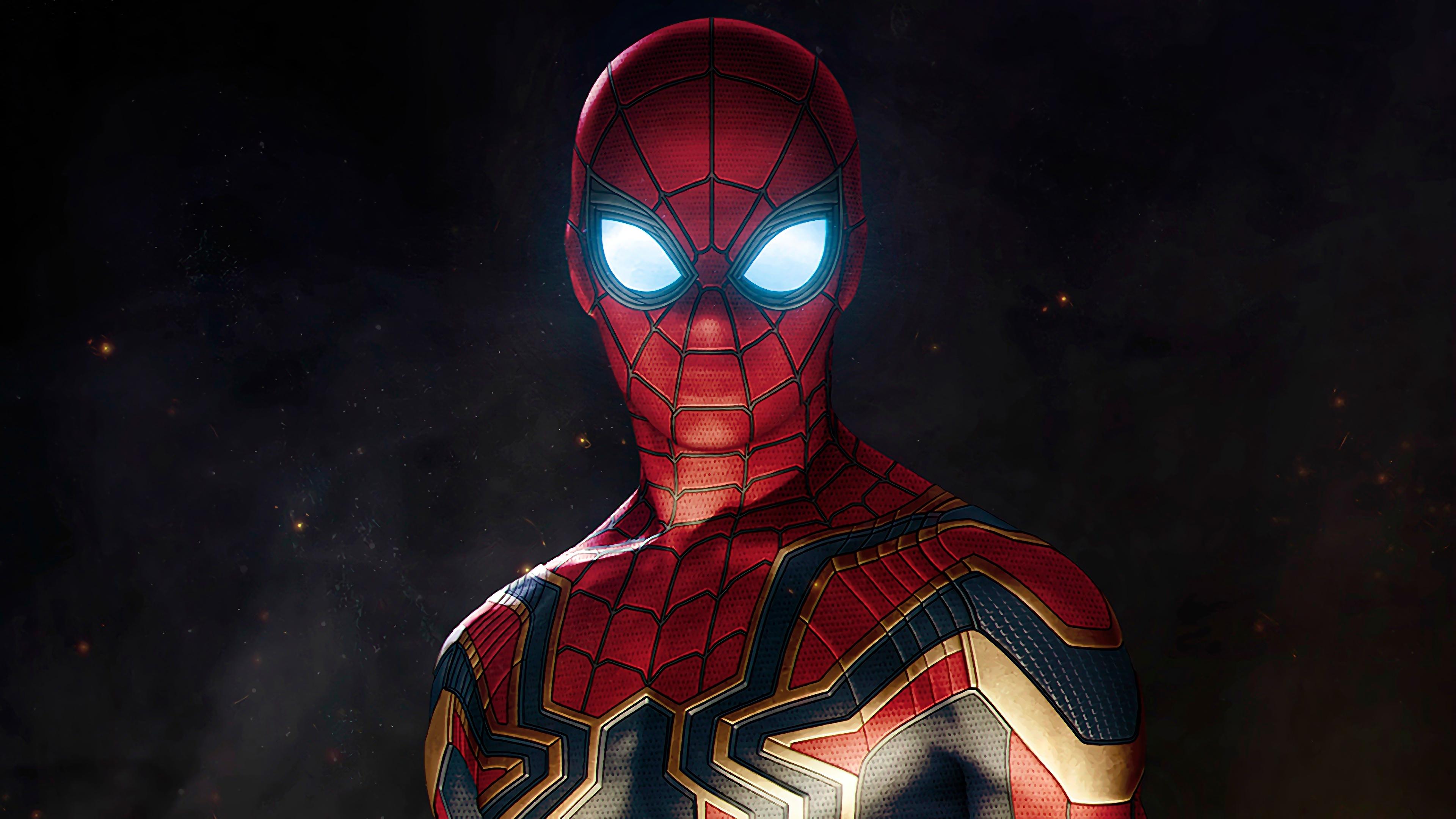 Человек паук в Мстители война бесконечности обои скачать