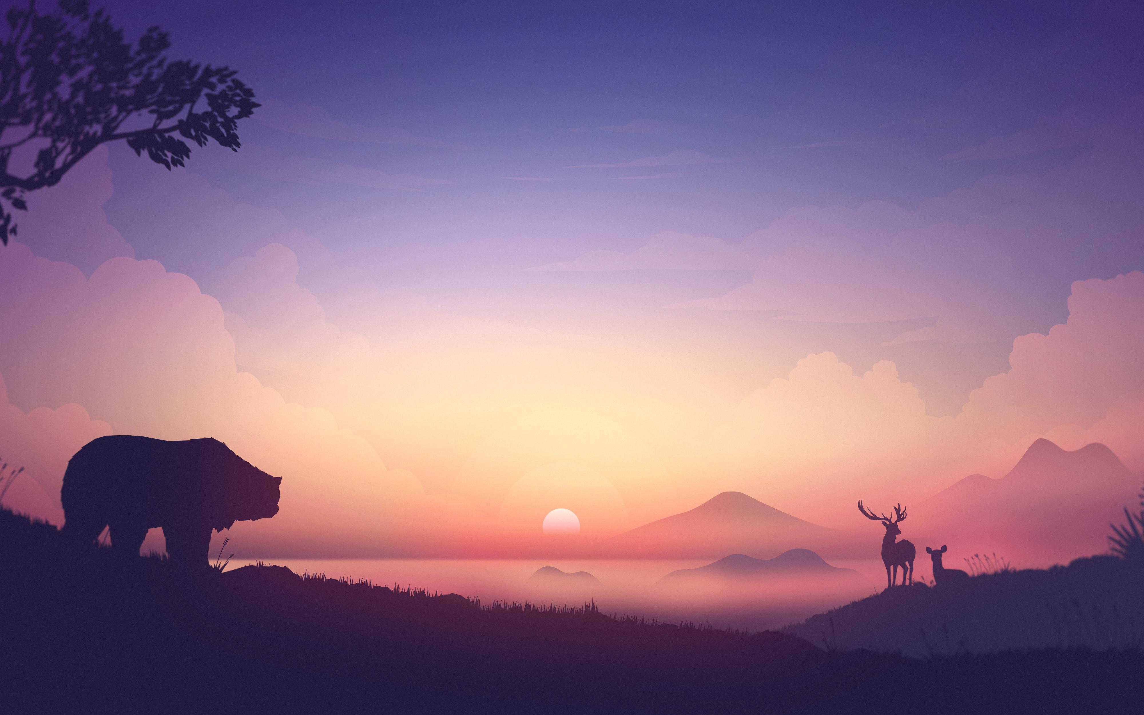 Восход солнца обои скачать