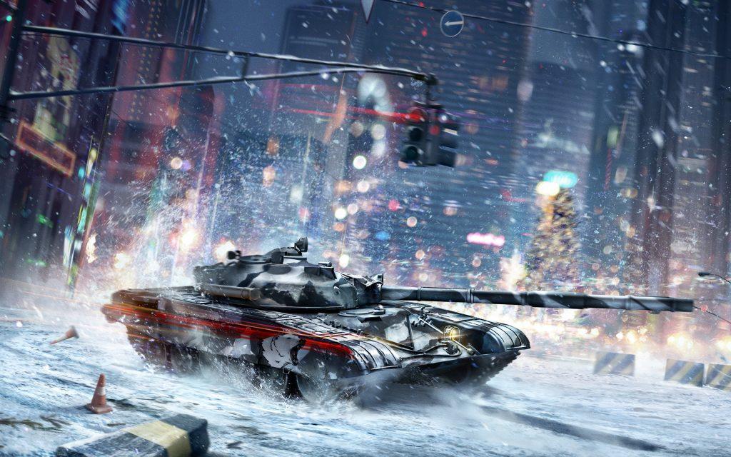 Танковые сражения зимний танковый бой. обои скачать
