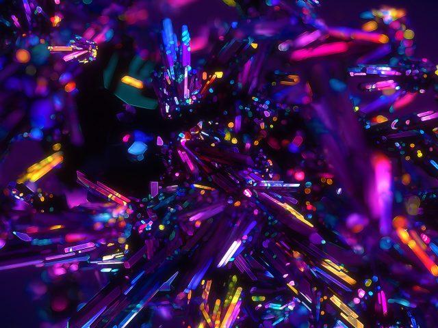 Красочные кристаллы абстрактные