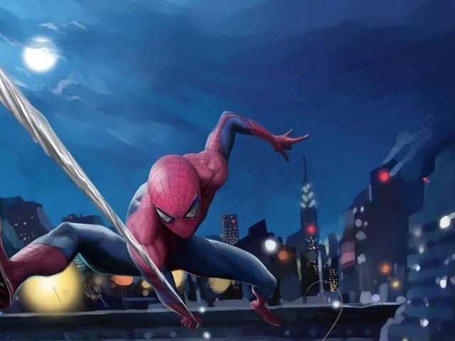 Человек-паук произведения искусства