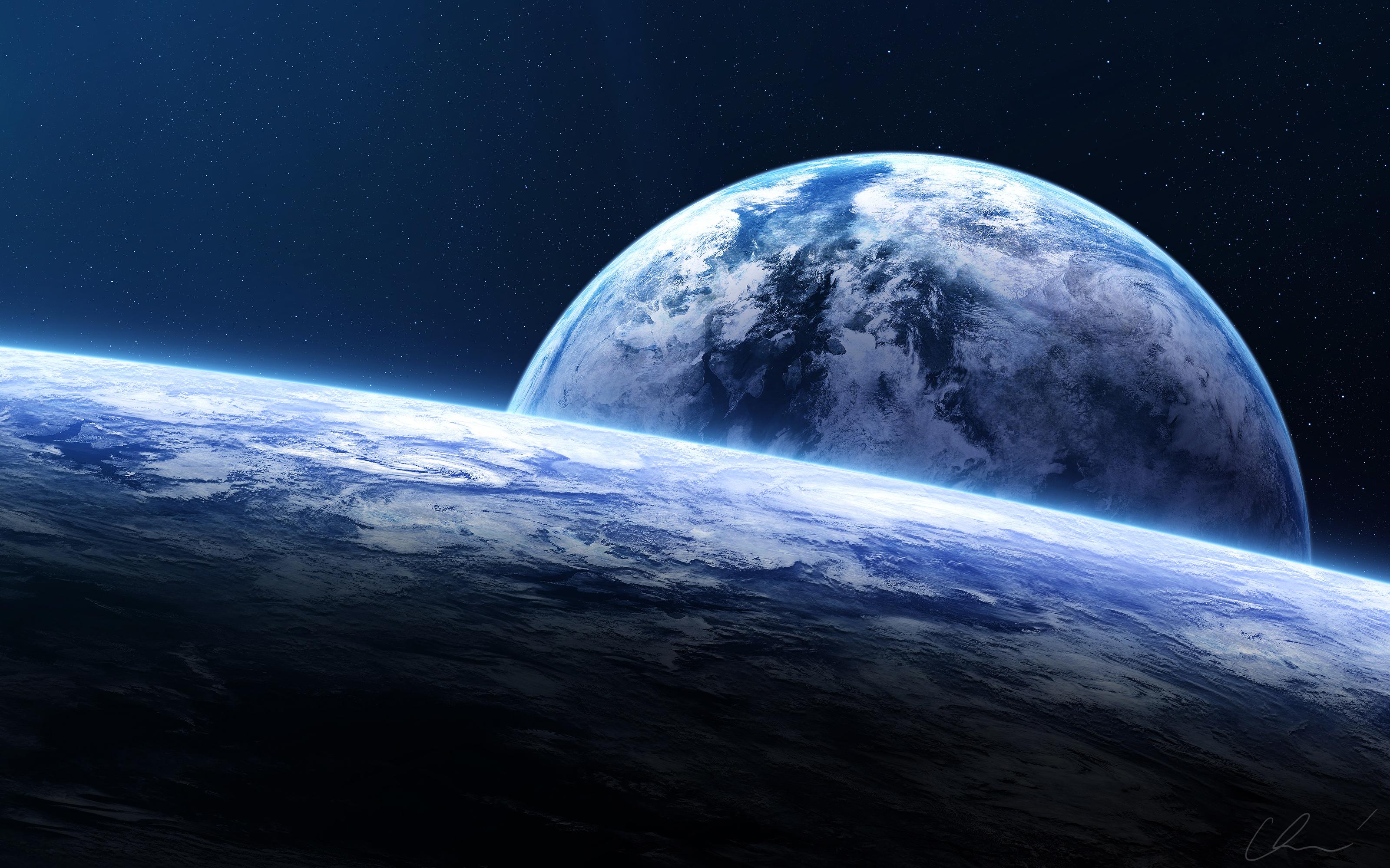 Горизонт земли spacescape обои скачать