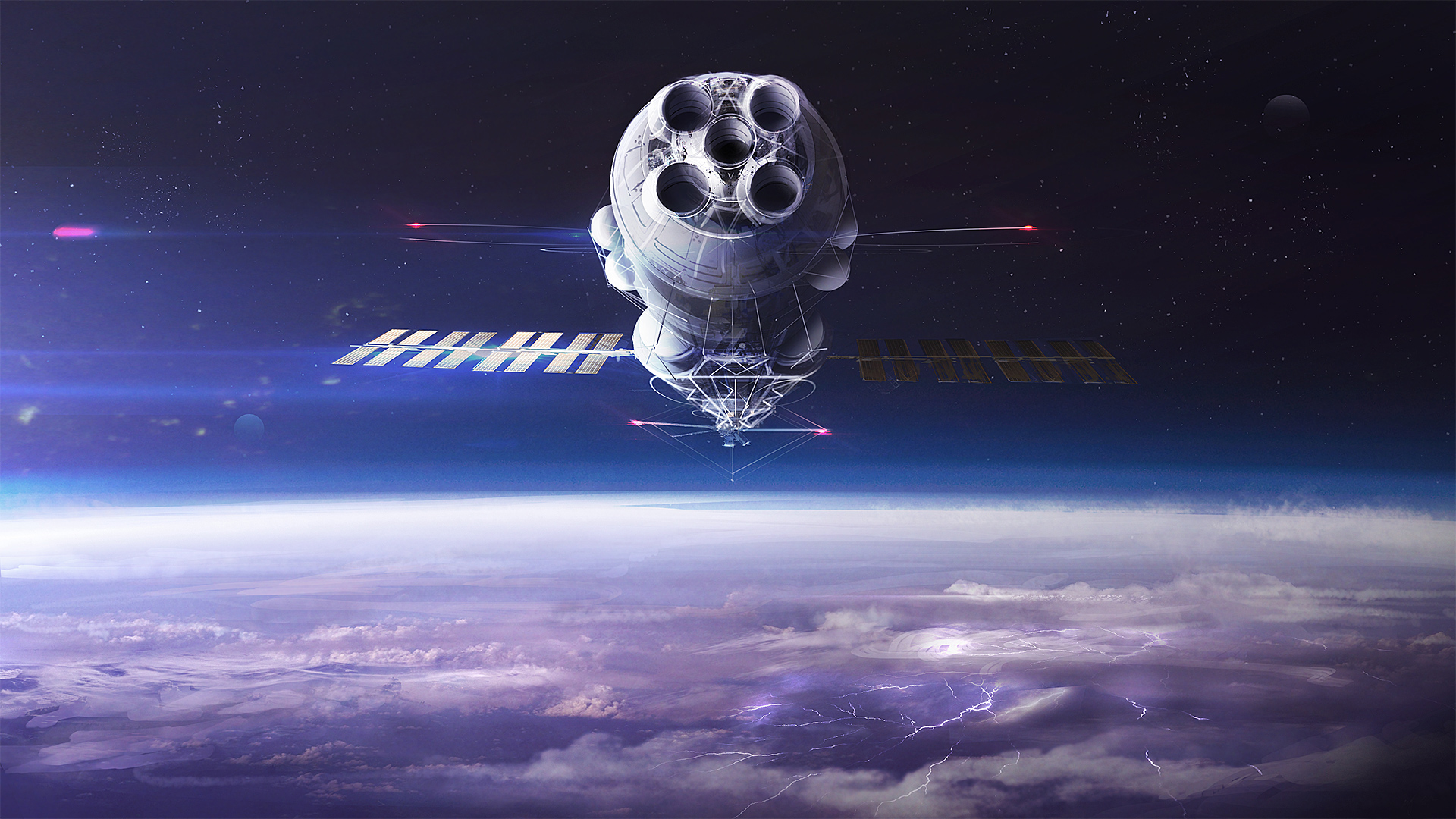 Командный космический корабль обои скачать