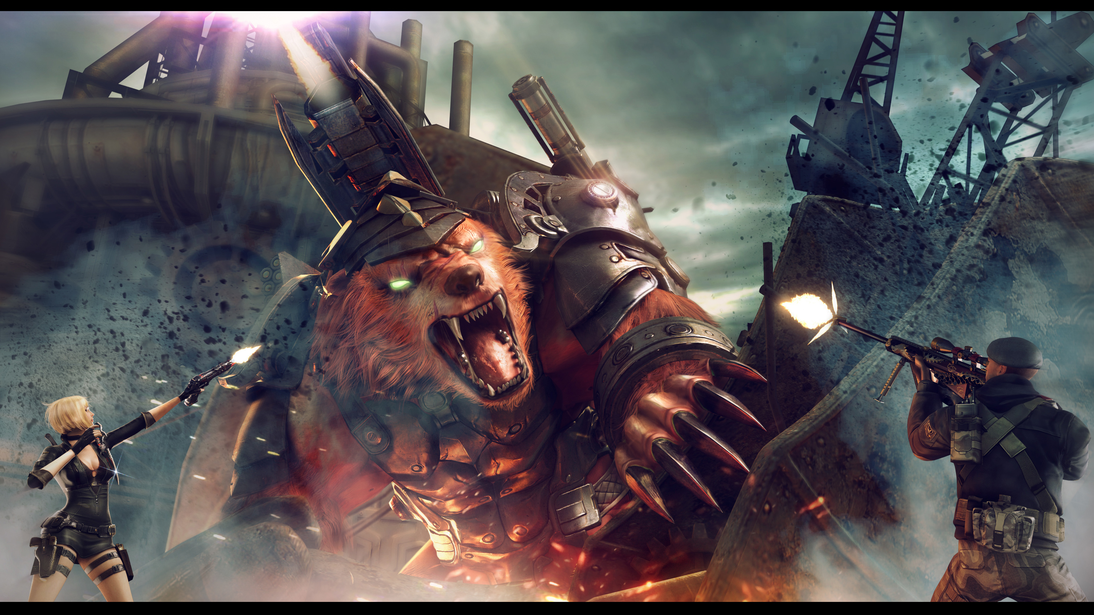 Босс Арена в CrossFire Китай Божье большой медведь. обои скачать