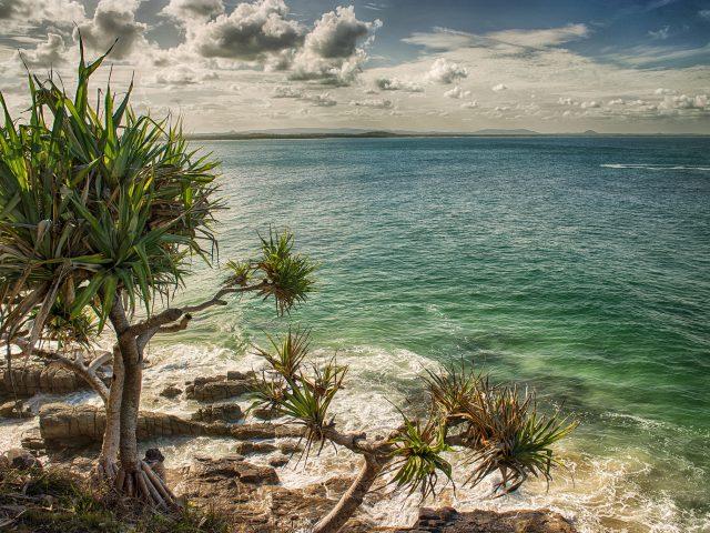 Пляж,  океан