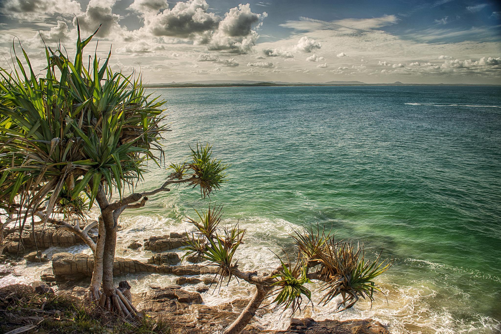 Пляж, океан обои скачать