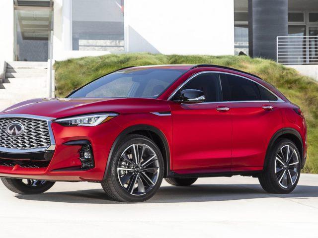 Красный Инфинити qx55 2022 полноприводных автомобилей