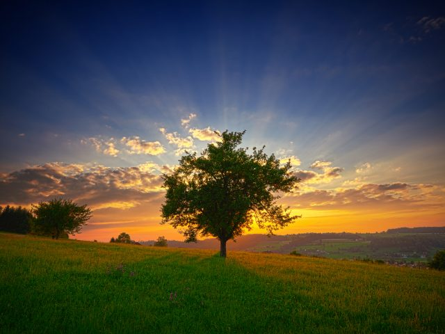Исео пейзаж закат.