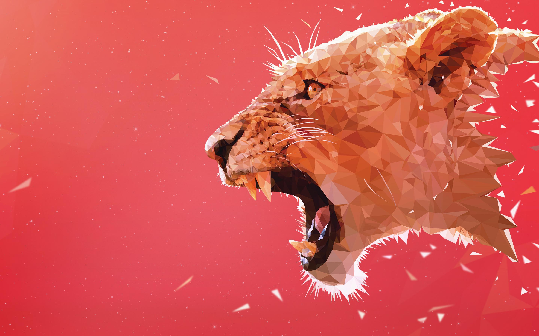 Рыкающий Лев обои скачать