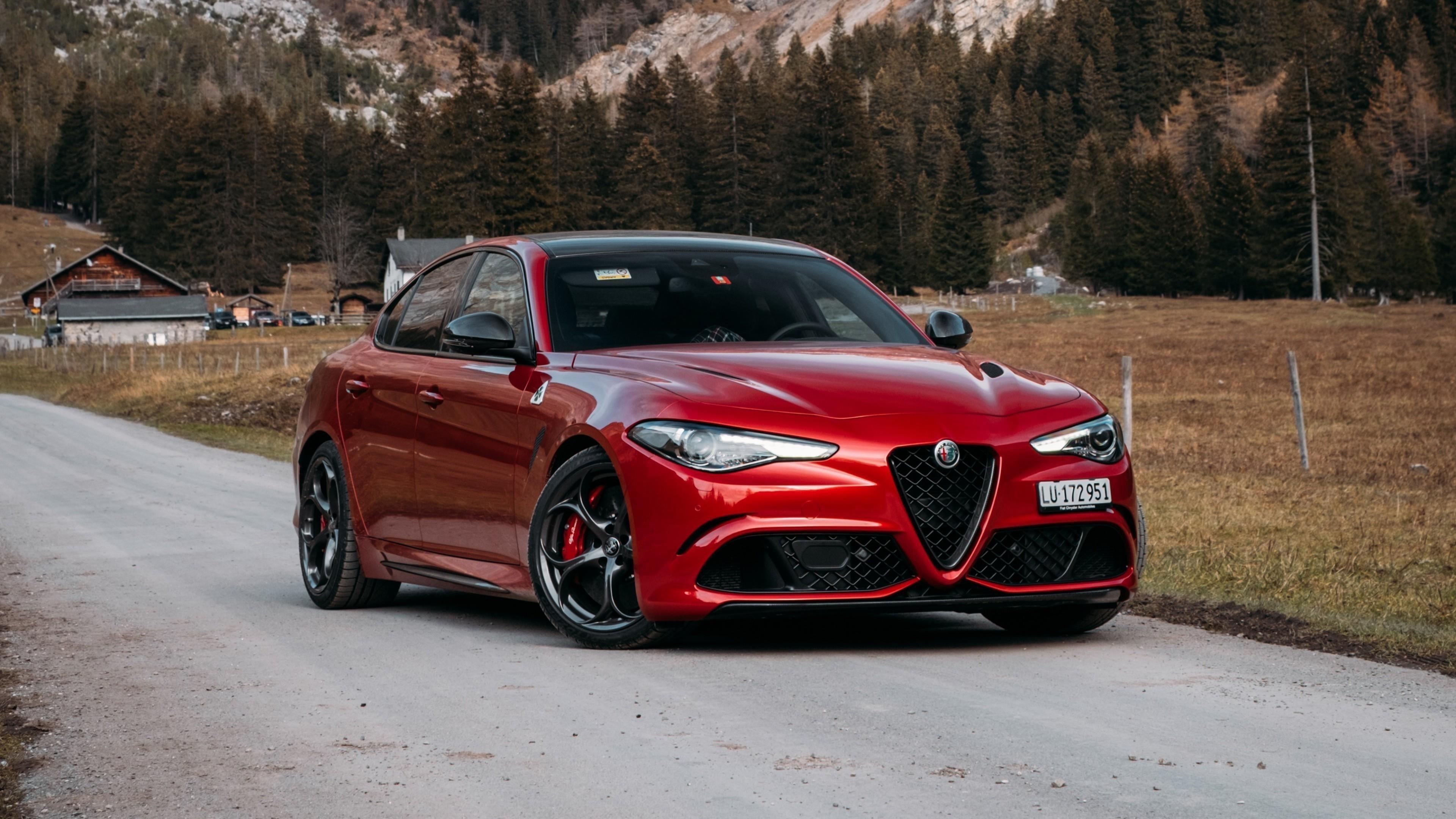 Alfa romeo giulia quadrifoglio 2021 автомобили обои скачать