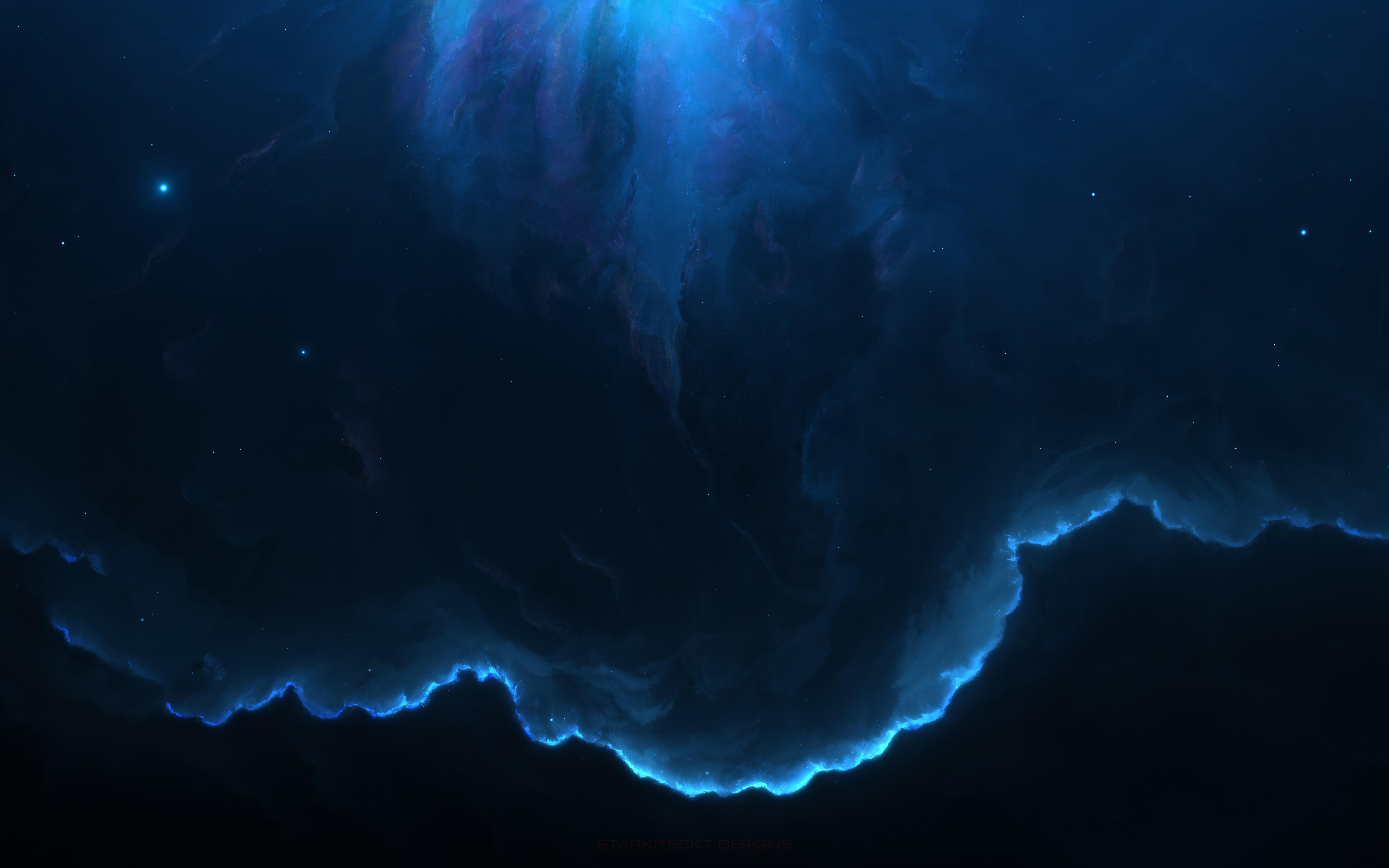 Космическая туманность 8к. обои скачать