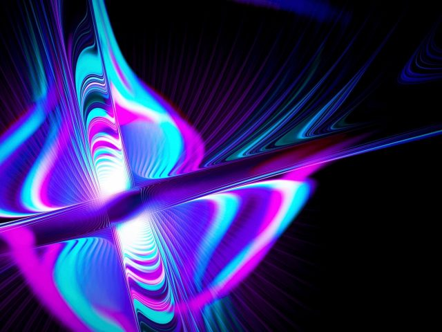 Лучи образуют разноцветное свечение абстракция