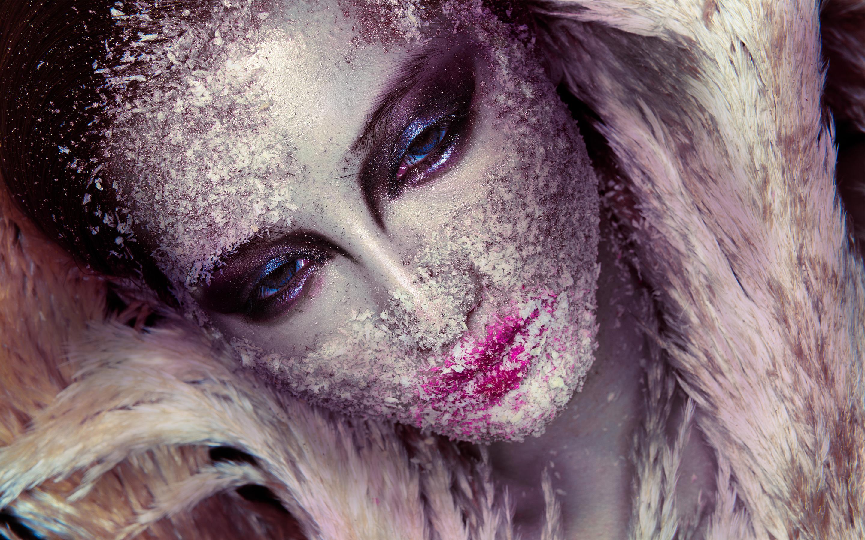 Красивая девушка макияж фейс-арт. обои скачать