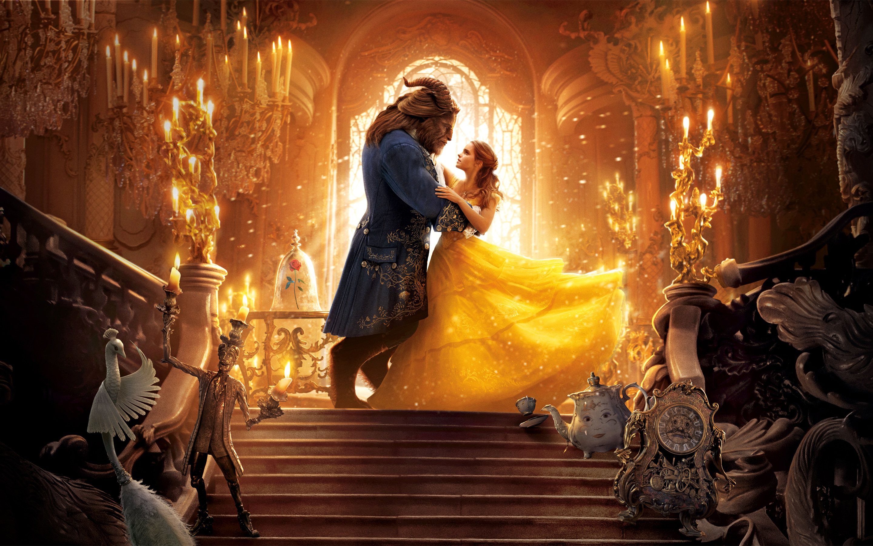 Beauty and the beast 4k 8k. обои скачать