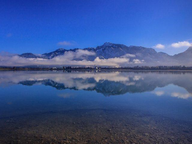 Альпы Бавария Германия озеро гора отражение природы