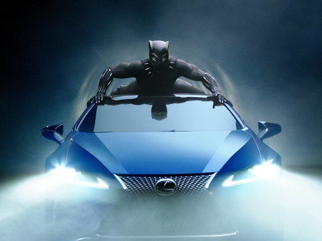 Lexus lc 500 черная пантера