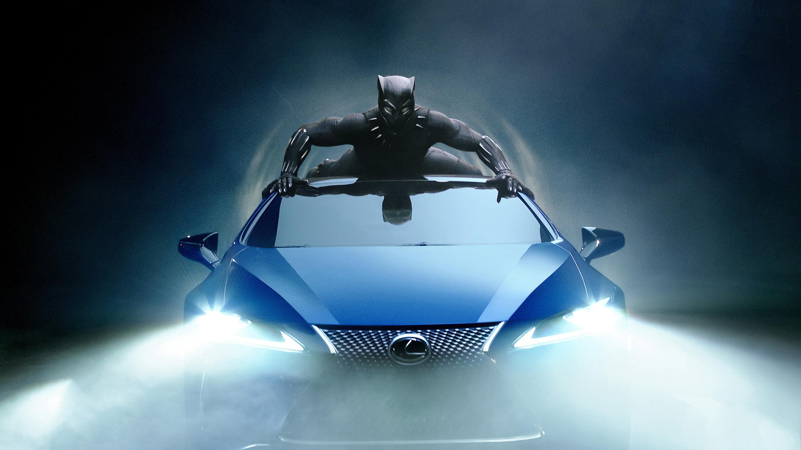 Lexus lc 500 черная пантера обои скачать