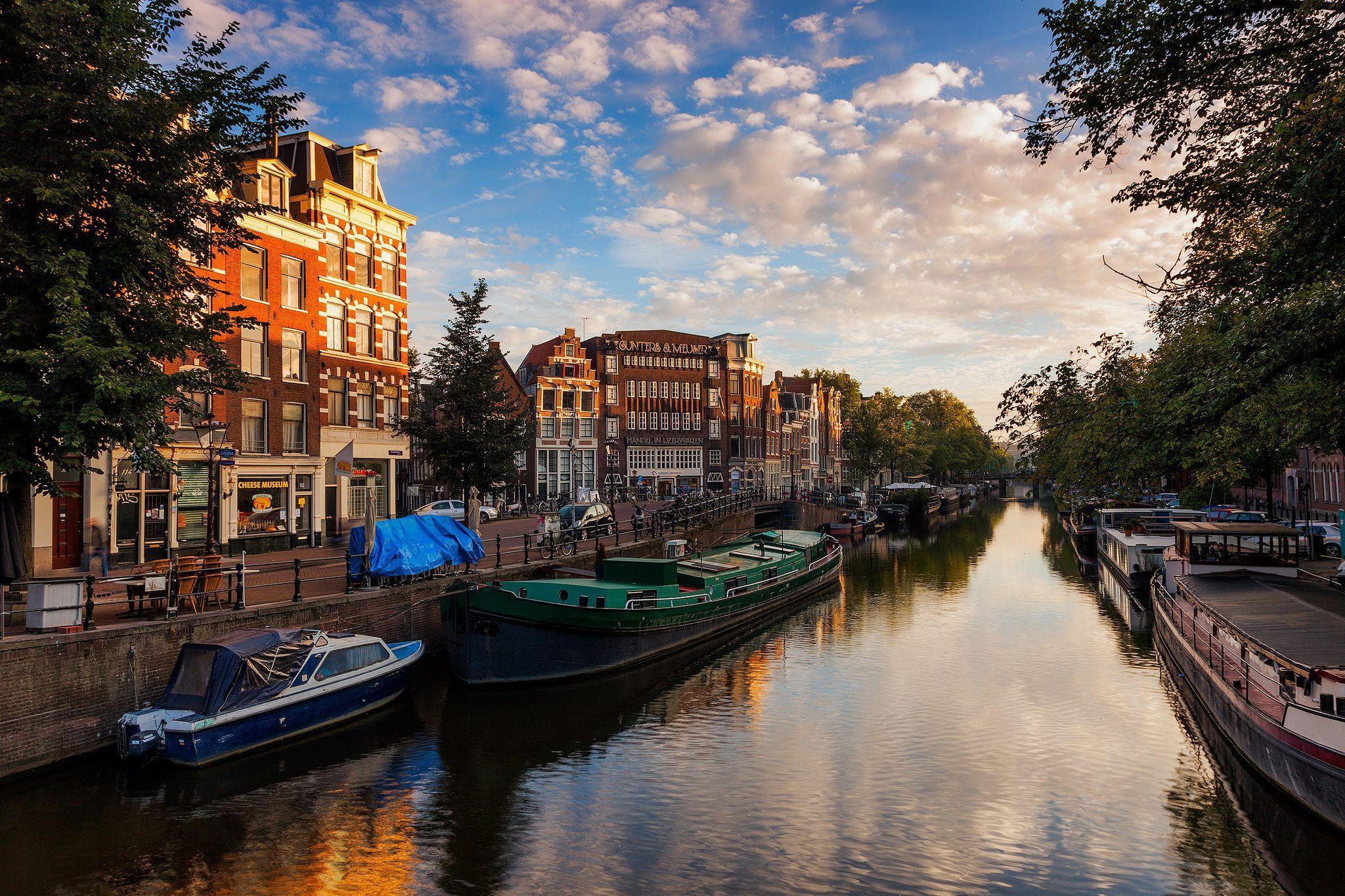Amsterdam, Nederland, Амстердам, Нидерланды обои скачать
