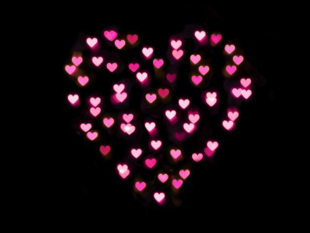 Любовь сердца форма розовый
