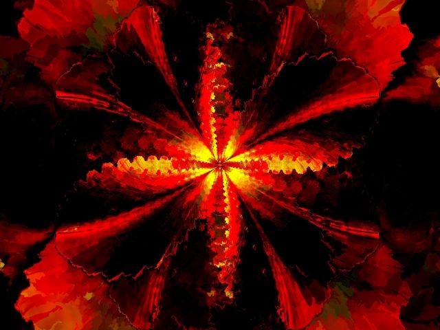Красный желтый фрактальный узор абстракция абстракция