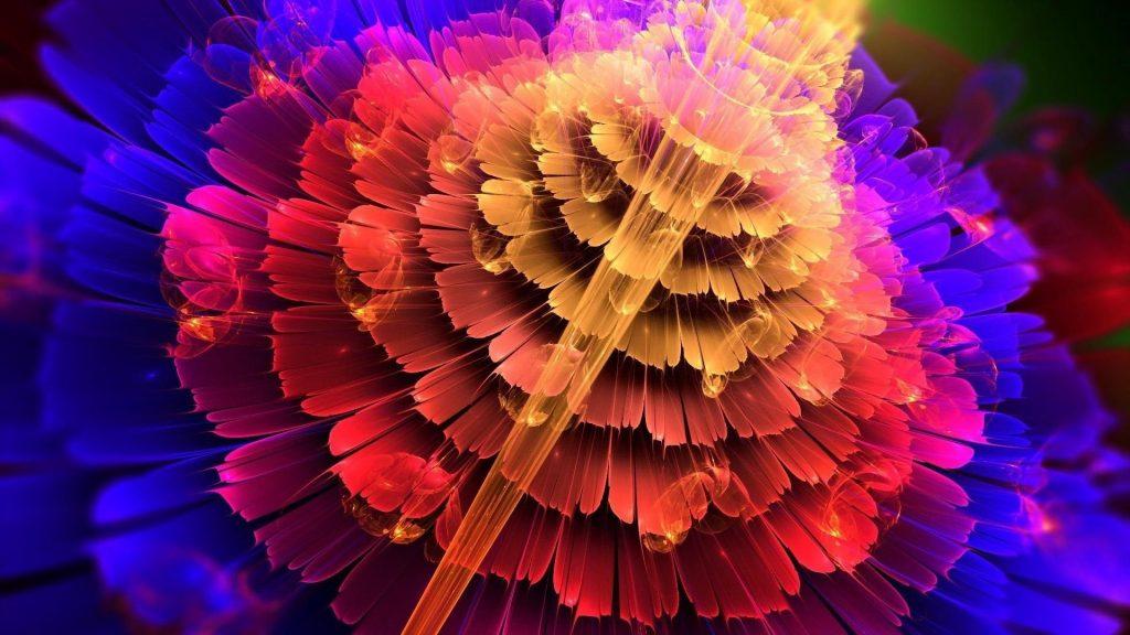 Красочный цветок абстракция форма абстракция обои скачать