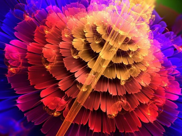 Красочный цветок абстракция форма абстракция