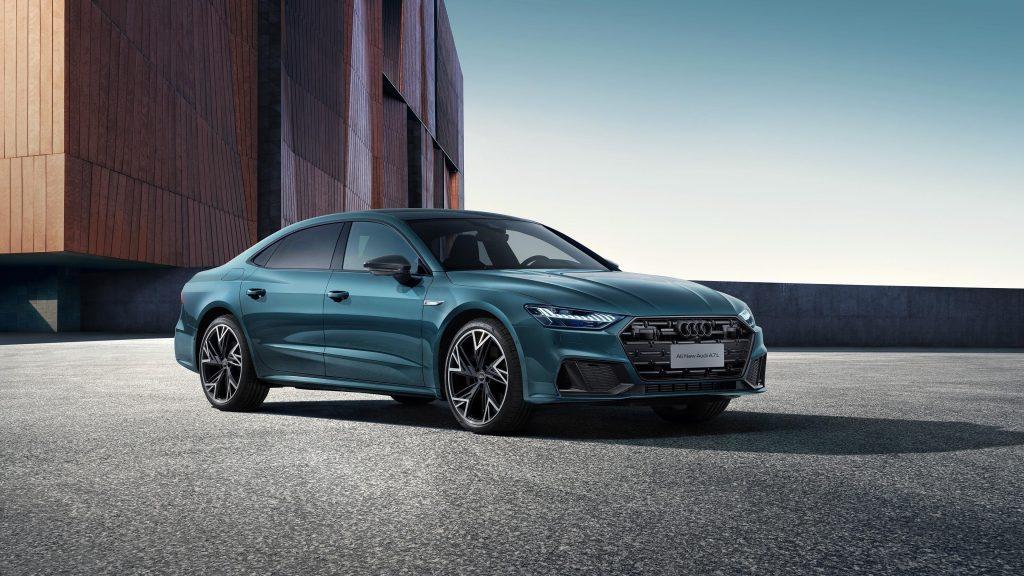 Audi a7l 55 tsfi quattro s line edition one 2021 3 автомобиля обои скачать