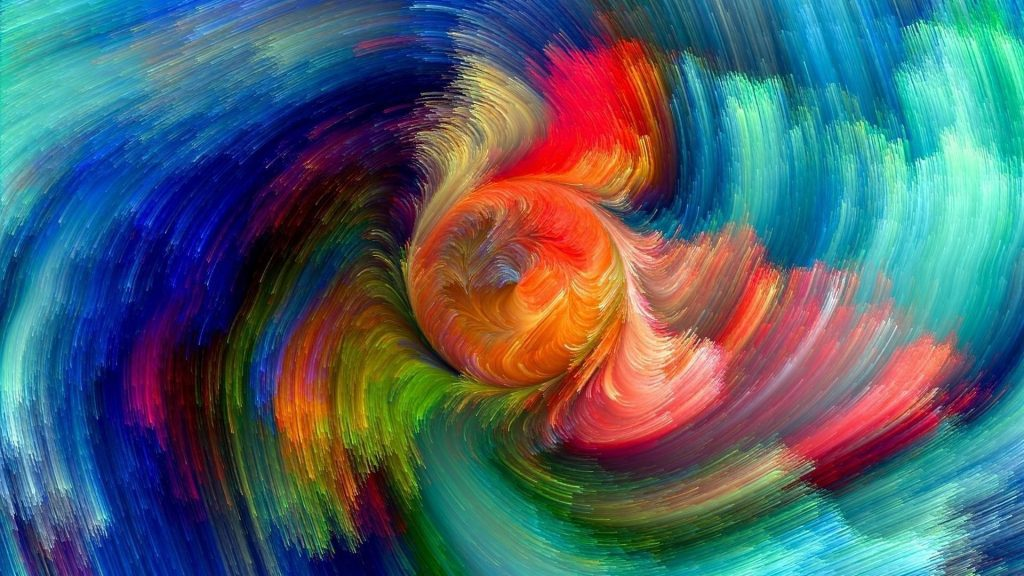 Красочные фрактальный вихрь аннотация обои скачать