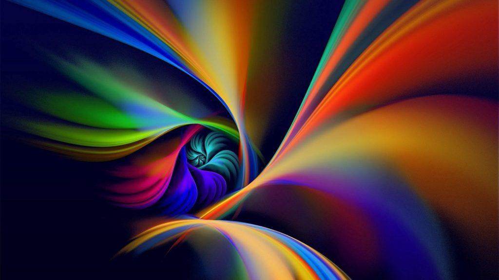 Красочная спиральная линия вращения абстрактная обои скачать