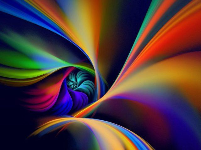 Красочная спиральная линия вращения абстрактная