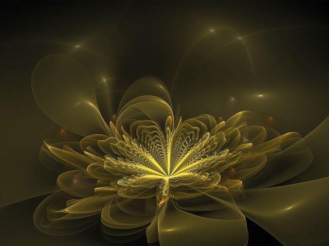 Размытые абстрактные фрактальные узоры