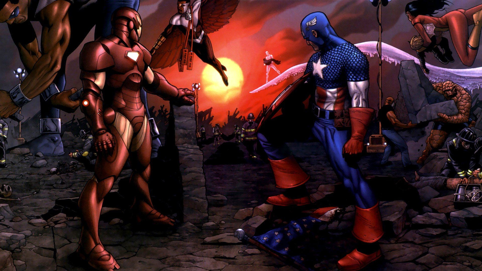 Captain america, war, comics, marvel обои скачать