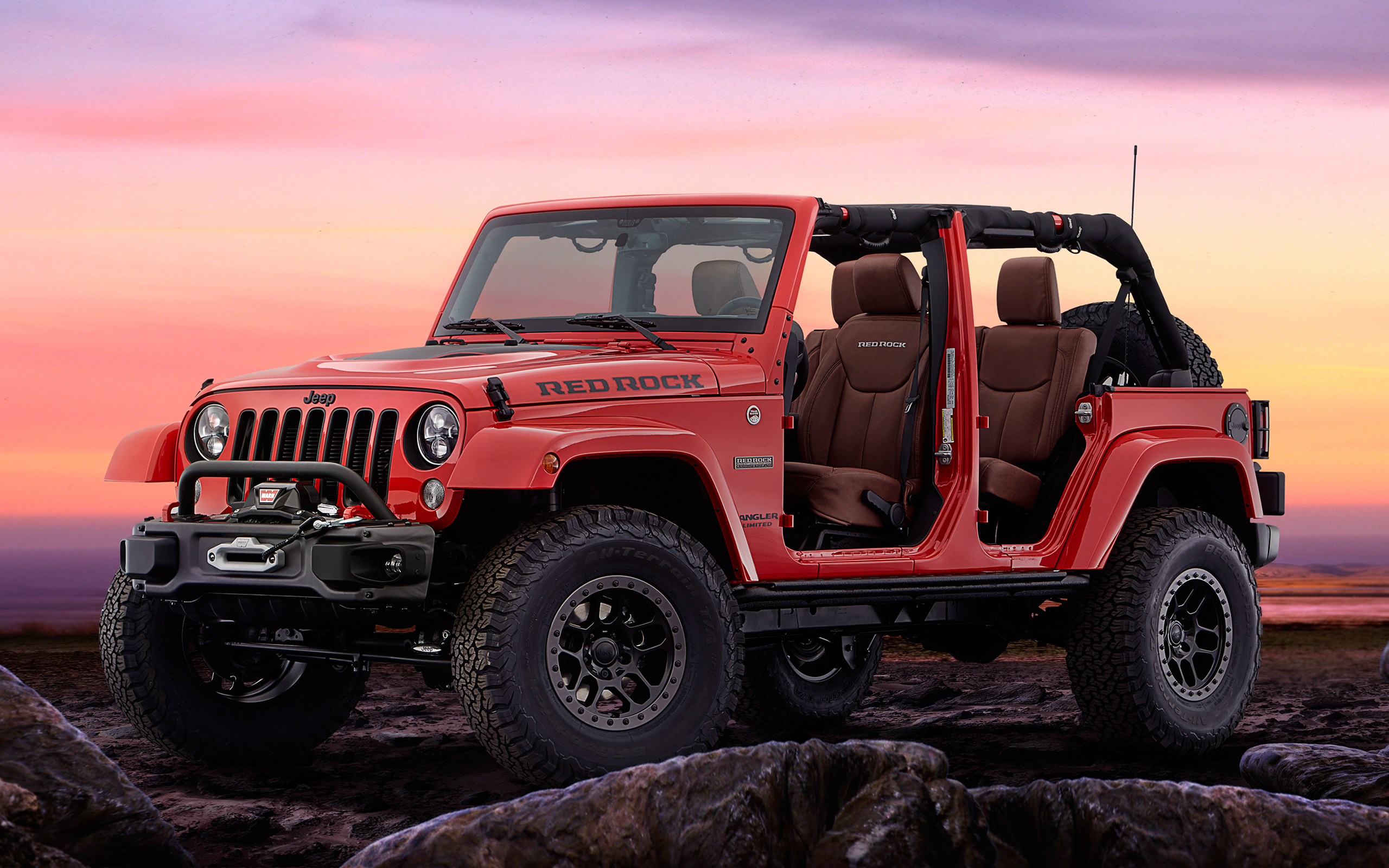 Jeep wrangler red rock concept. обои скачать