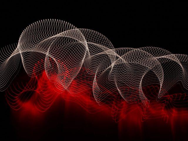 Абстрактные линии пятна темный фон