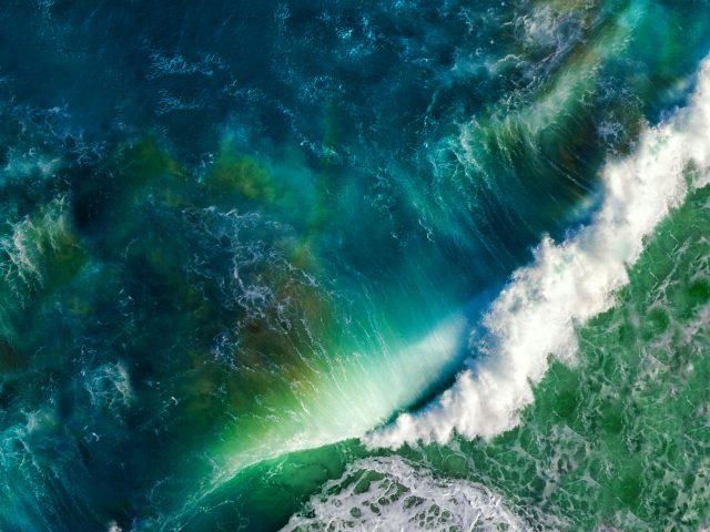 Волны океана с iOS складе