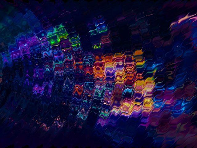 Красочное фрактальное искусство абстракция