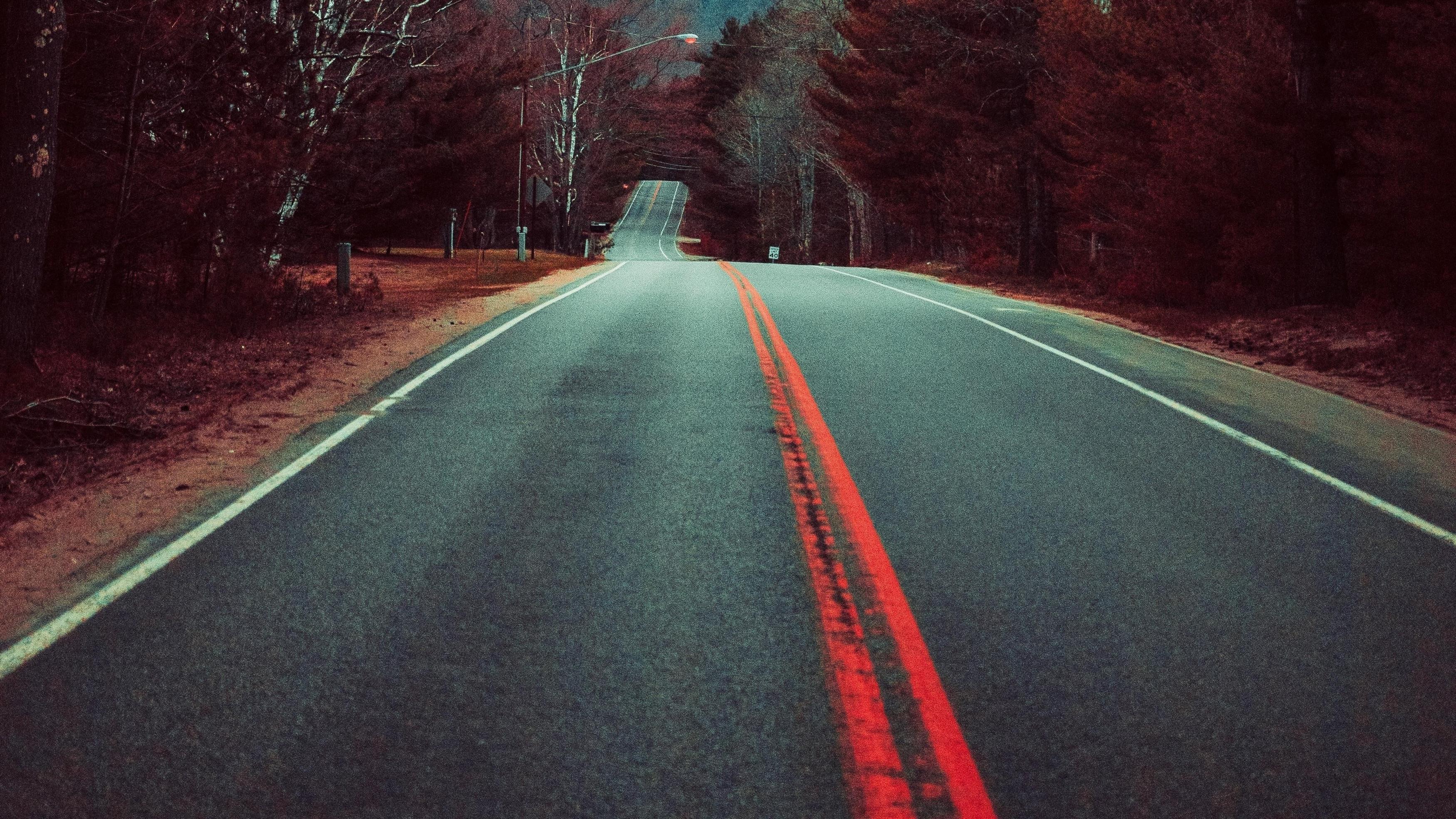 Осенняя дорога обои скачать