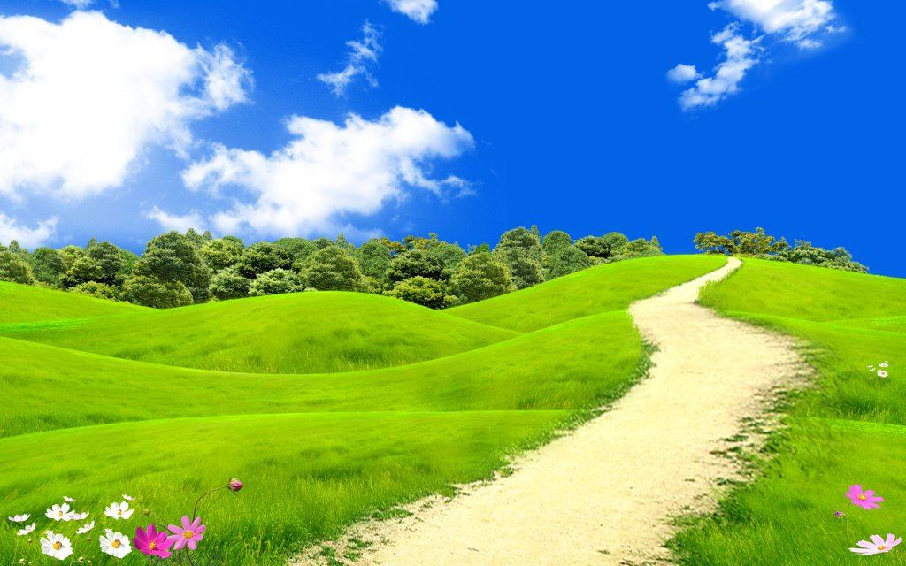 Beautifu spring landscape. обои скачать