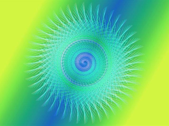 Желтый зеленый синий художественные цвета цифровое искусство пастель абстракция