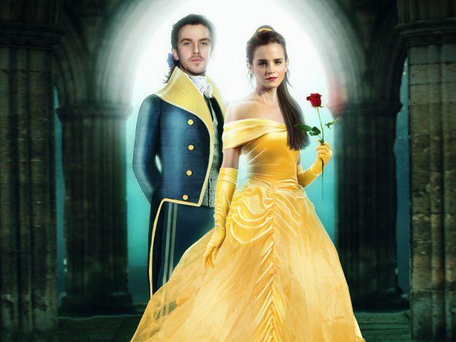 Дэн Стивенс и Эмма Уотсон красавица и чудовище.