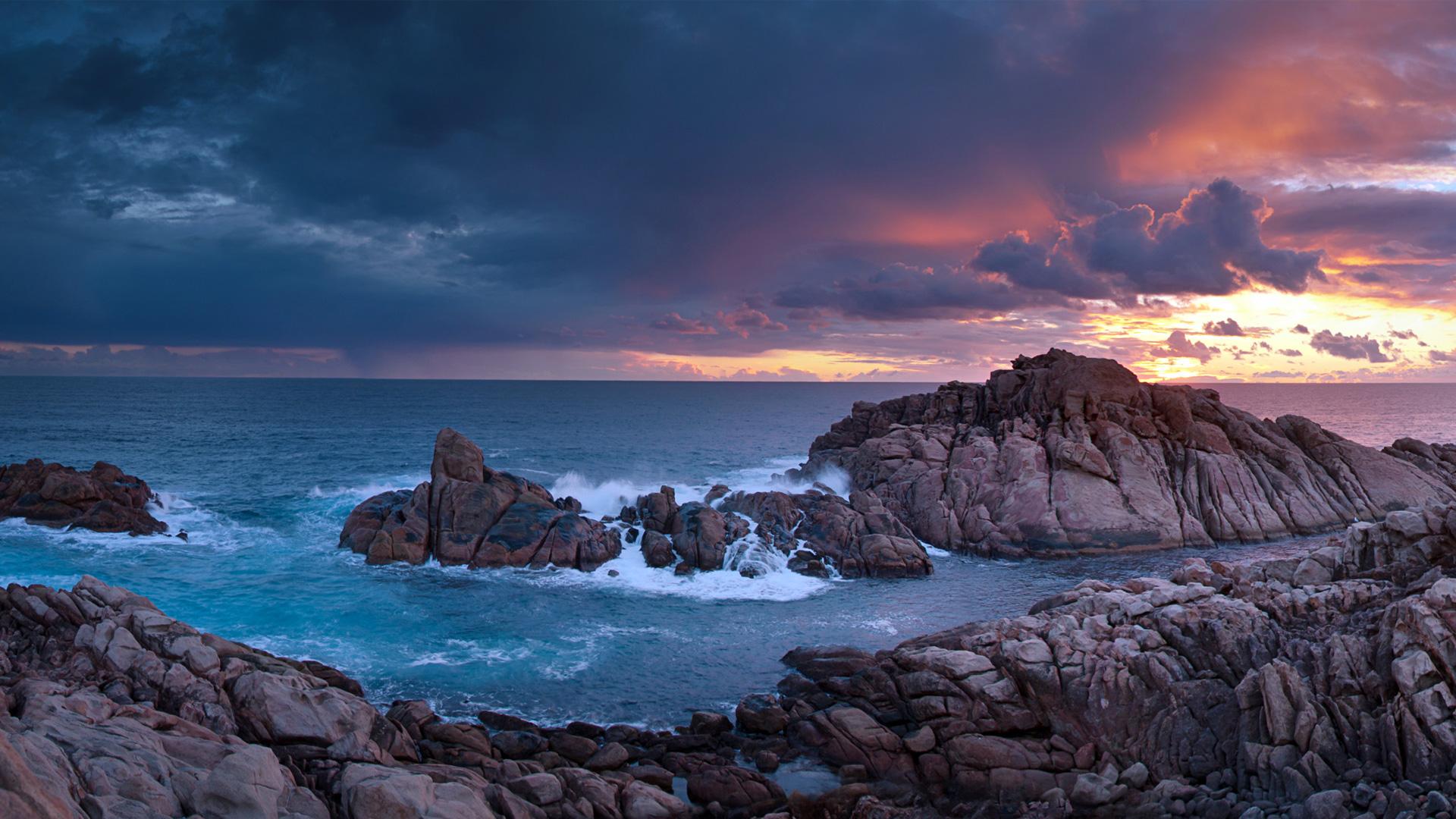 Захода солнца скалы канал-рокс Западная Австралия. обои скачать