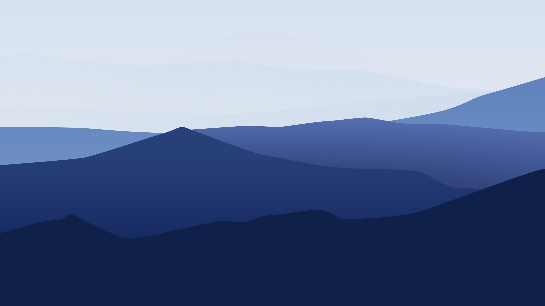 Минимальный ландшафт гор обои скачать