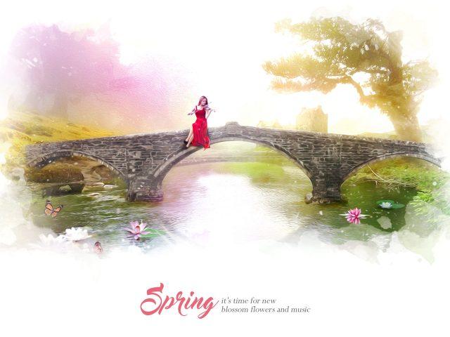 Весной цветут цветы музыка.