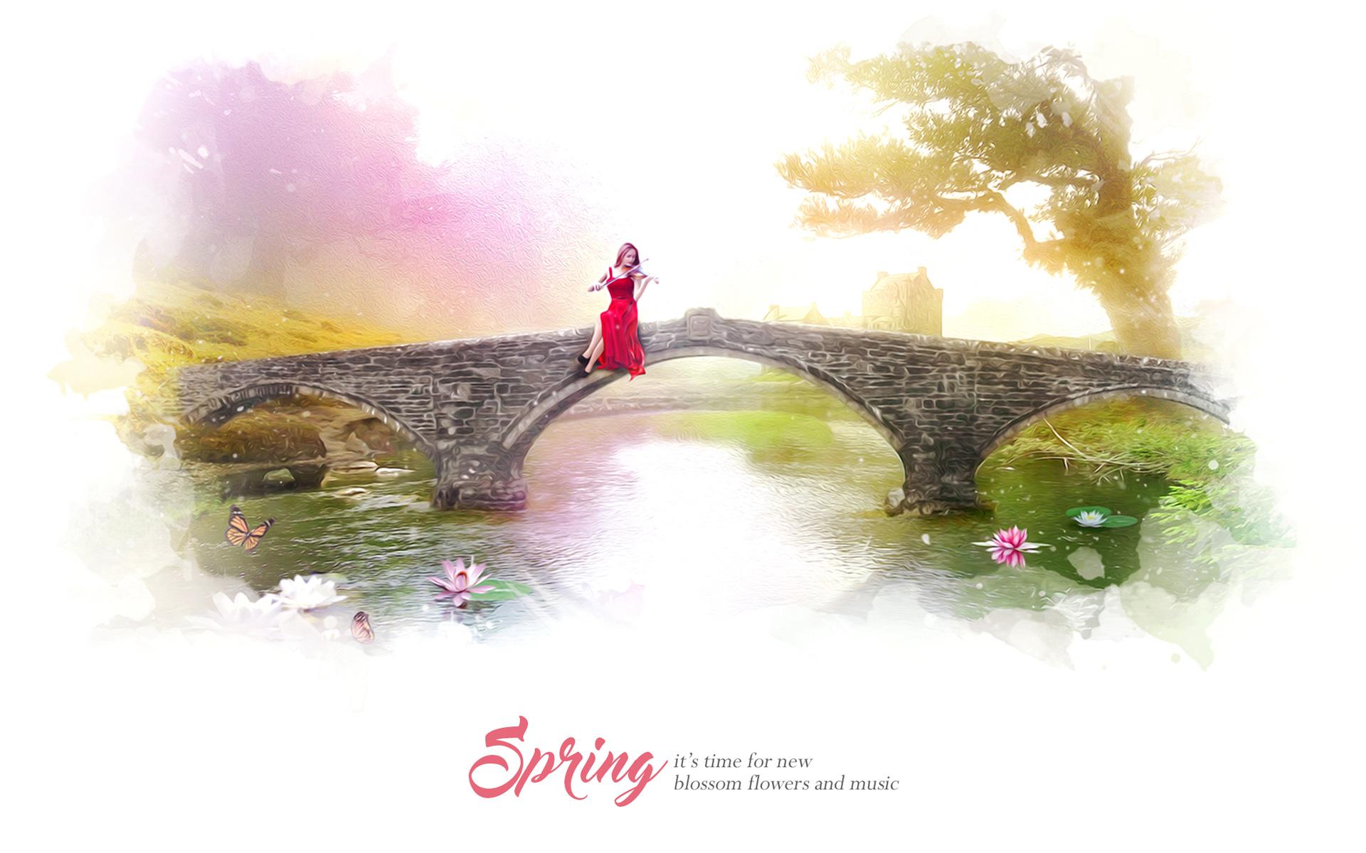 Весной цветут цветы музыка. обои скачать