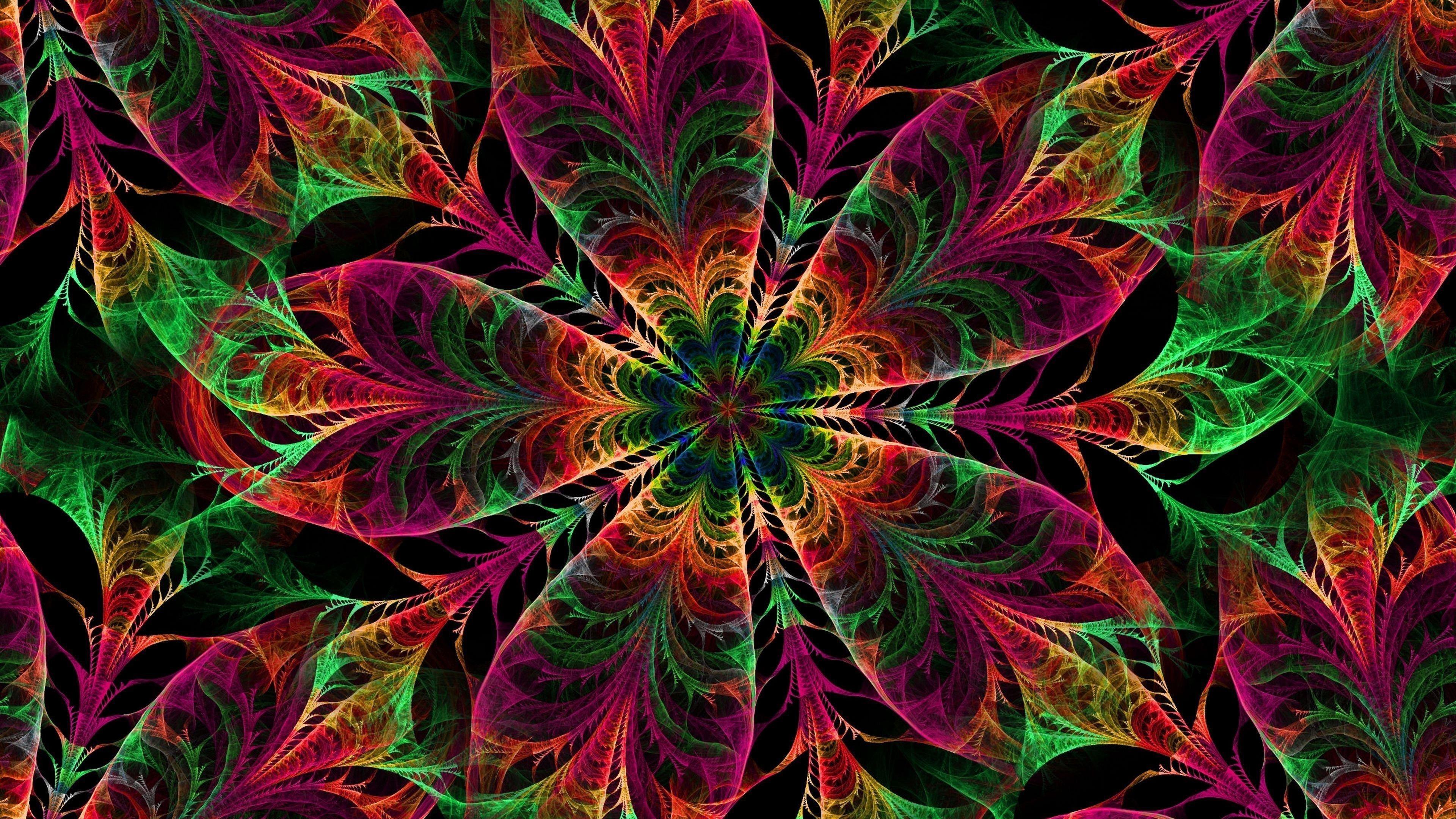 Калейдоскоп узоров цветов обои скачать