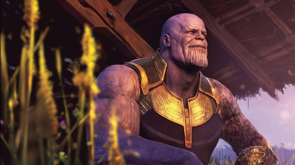 Танос в Мстителях Война бесконечности обои скачать